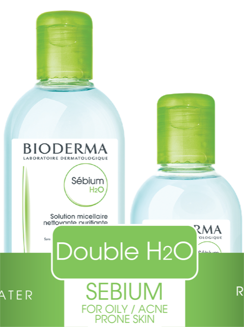Bioderma Sebium Double H2O Medium pack