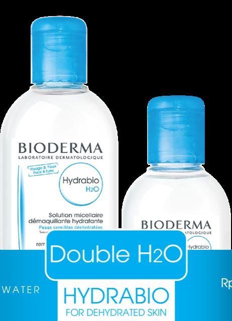Bioderma Hydrabio Double H2O Medium pack