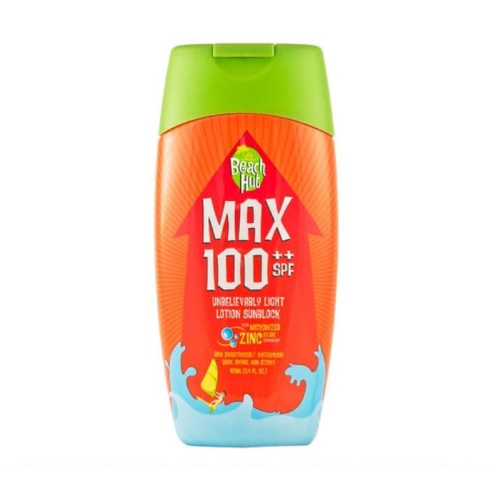Beach Hut Max SPF 100++ Unbelievably Light Lotion Sunblock