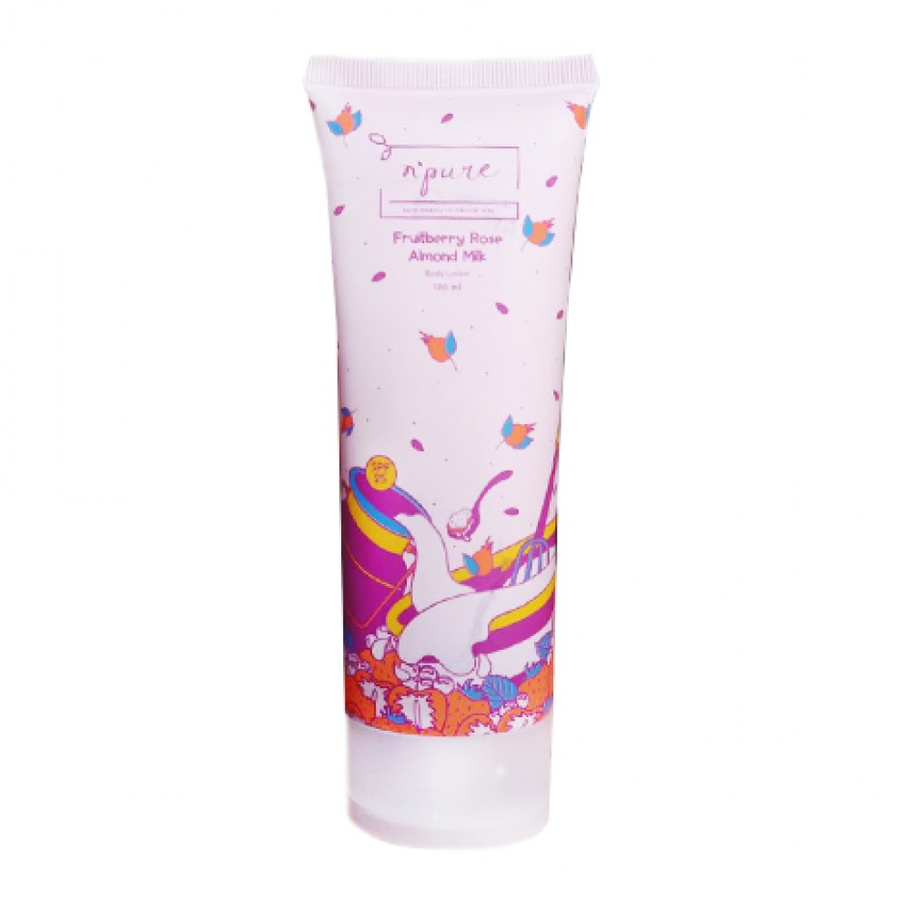 N Pure Body Lotion Fruitberry Rose Almond Milk