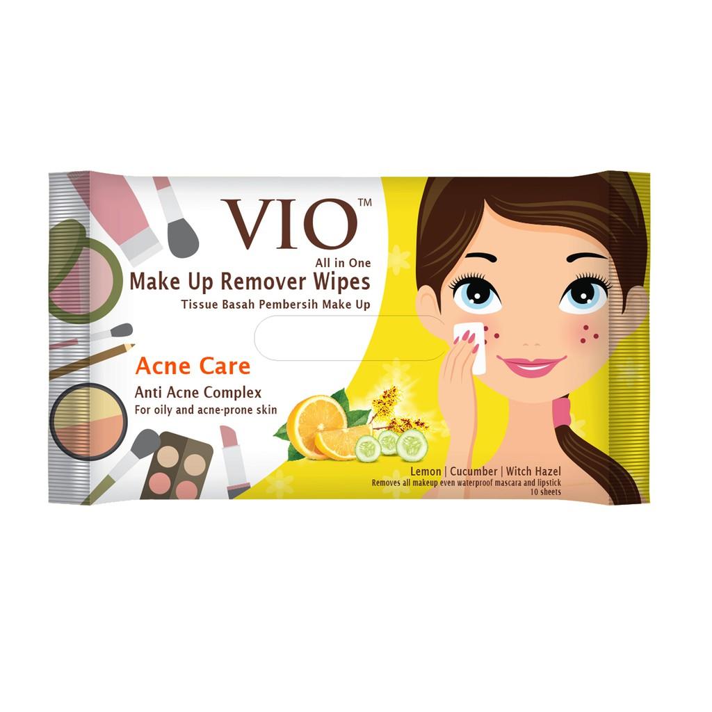 VIO Makeup Remover Acne Care Wipes 10s