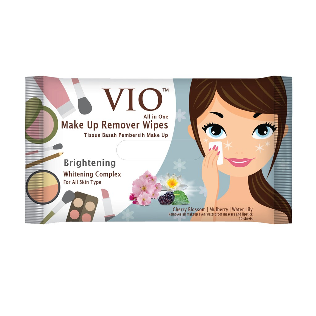 VIO Makeup Remover Brightening Wipes 10s