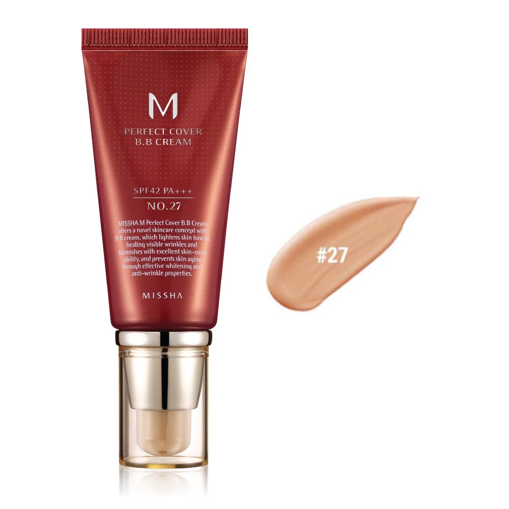 MISSHA M Perfect Cover BB Cream SPF 42 PA+++ (No.27/Honey Beige)
