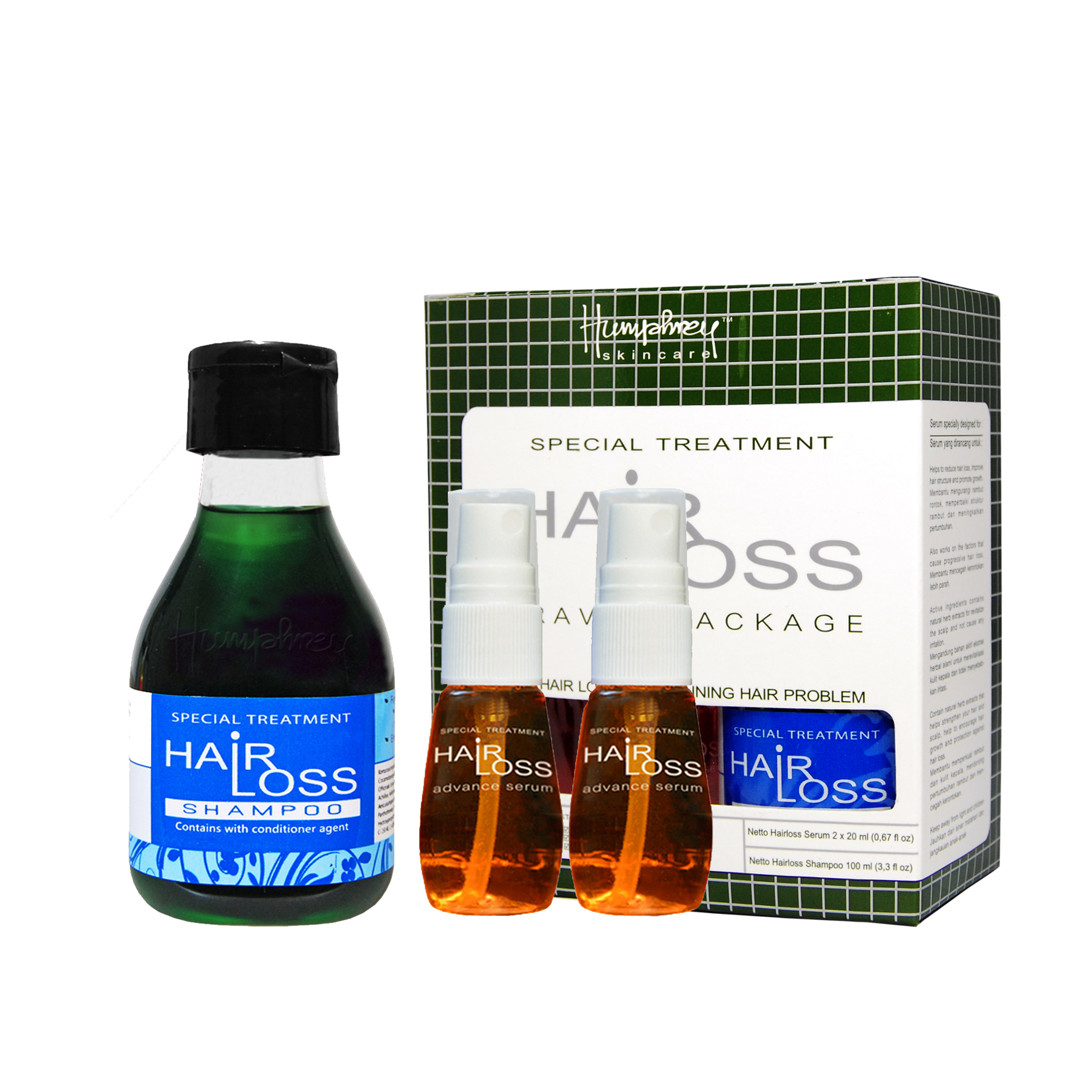 Humphrey Skincare Hairloss Travel Package (Shampoo + Serum)