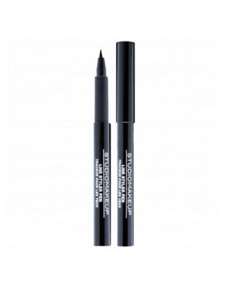 StudioMakeup Liquid Eyeliners Triple Line Ink Pen - Ultra Black